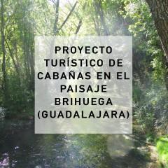 La Casa Inundada, jardín y cabañas. Brihuega, Guadalajara. 2013-2014