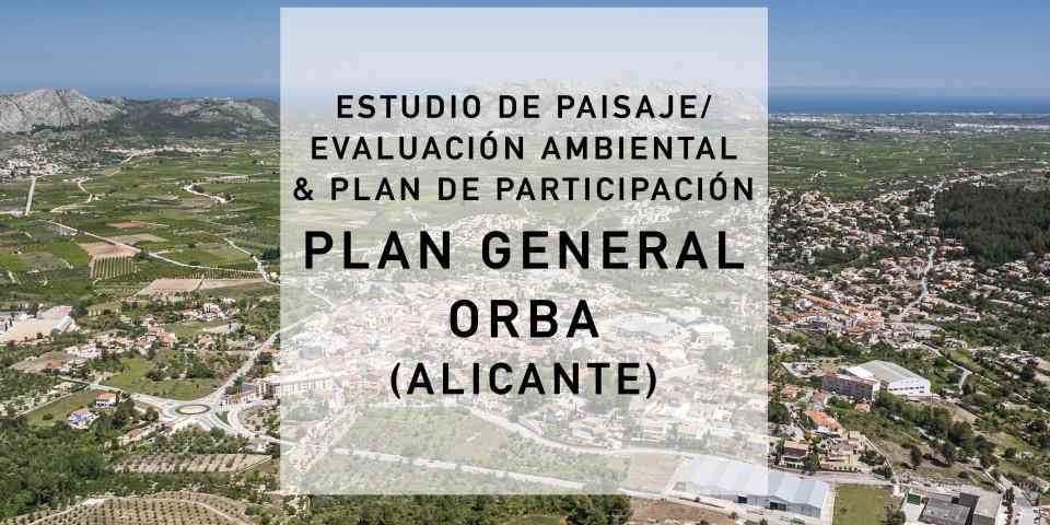 Paisaje, Evaluación Ambiental y Partipación PLAN GENERAL ORBA (Alicante) 2017-2018